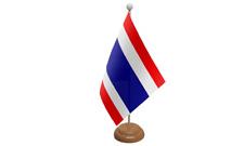 TAILANDIA de Mesa Bandera Con Estante de madera