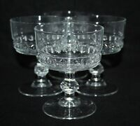 A Set of 4 Vintage Clear Glass Sundae Dishes - vgc
