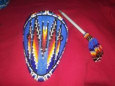 Fully Beaded Hair Barrettes hand made by Shoshone Bannock Native American elders