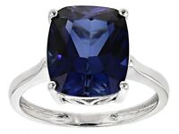 925  Silver Natural  Certified 10 Carat Blue Sapphire Handmade Solitaire Ring