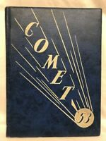 1953 DELAVAN HIGH SCHOOL YEARBOOK Comet Delavan, Wisconsin Signatures