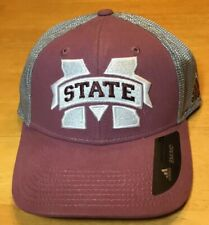 Mississippi State Bulldogs NCAA Adidas Flex MSU Stretch Hat Cap Sz: S/M
