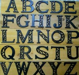 Ornate Cast Iron Alphabet Letters A-Z  Rustic Brown Priced Each USA SELLER