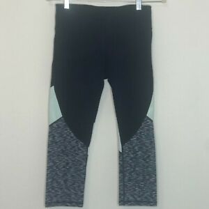 Gap Fit Womens Gfast Athletic Leggings Small Cropped Navy Blue
