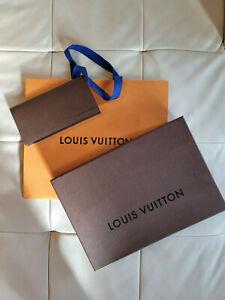 Louis Vuitton Bag + Box + Envelop + Card Brown/Orange Packing Gift Shopping