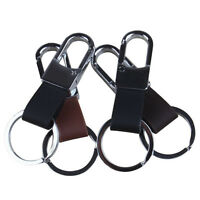 Fashion Men Leather Strap Keyring Keychain Key Chain Ring Keyfob Key Holder Loop