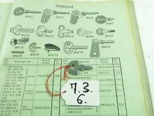 NOS Schlüssel Key Bosch ES150 ES 150 Scheinwerfer Motorrad Zündschloss Lampe