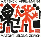 A.R. PENCK Maeght Lelong Zurich 23.75 x 26 Poster 1984 Expressionism Red, Black