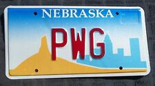 "NEB VANITY LICENSE PLATE "" PWG "" PETE PAT PAUL GLENN GREEN GIBSON GOLD GILBERT"