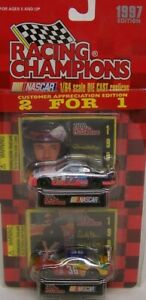 Racing Champions 2for1 Die Cast Cars 1997 Derrike Cope #36 + Darrell Waltrip #17