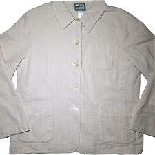 Pendleton Originals Womens Petite L Cotton 49er Light Blouse Button Up Blazer