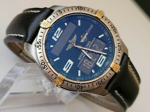 Breitling,Aersopace,Chronometer,Titanium/Gold,Ref F65362 with Papers