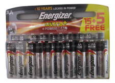 20X  Genuine Energizer Ultra Power Seal Technology AA