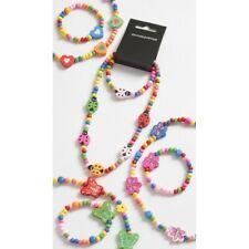 Colourful Children's Girls Wooden Necklace & Bracelet Set Party Bag Fillers