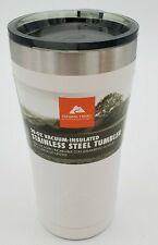 Ozark Trail 20 oz Vacuum Insulated Powder Coated White Tumbler 84-993