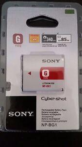 Original SONY NP BG1 digital camera battery DSC W G Type Stamina Genuine NEW OEM