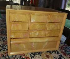 Vintage Akro Mils 10 Drawer Marbelized Bead Storage Jewelry Box Cabinet