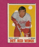 1970-71 OPC # 158 WINGS NICK LIBETT  VG+  CARD (INV#6823)