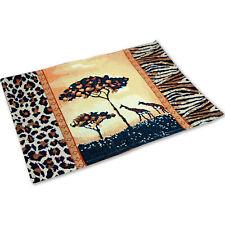 6 Tischsets Im Afrika-style Leopardenmuster Giraffen 33 X 46 Cm