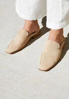 Free People Loafers 40 / 9.5 Tan Beige At Ease Slide On Suede Mule