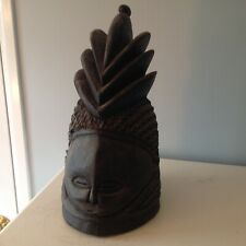 African Mende Helmet Mask Sowei Sande Society Liberia