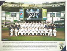 (1) 2018 Milwaukee Brewers Magnetic Schedule & (1) 2017 Team Photo Both SGA L@@K