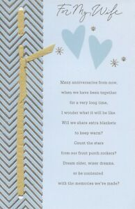 American Greetings Anniversary Card: Wife...As Long As My Future Holds You...