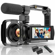 Video Camera Camcorder 4K 48MP Ultra HD YouTube Vlogging Camera IR Night Vision