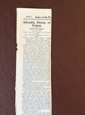 P3a Ephemera 1930 Article Court Case Rex V Minister Of Health