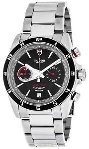 New Tudor Grantour Chronograph Flyback Men's Steel Watch 20550N-95730BLK