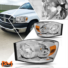 For 06-09 Dodge Ram 1500/2500/3500 Headlight/Lamps Replacement Amber Side Chrome (Fits: Dodge)