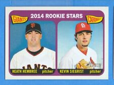 2014 Topps Heritage #282 Heath Hembree/Kevin Siegrist Rookie Stars