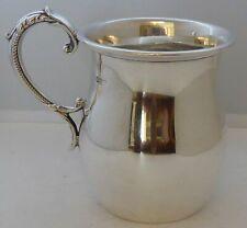 1913 Hallmarked Solid Silver 1/2 Half Pint Tankard Christening Mug