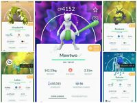 Pokemon go Shiny Mewtwo Maxed level 40 - opened 3 move ATK - Trade 20k Stardust