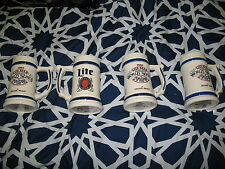 Miller Lite 1983 World Series Of Tavern Pool Beer Mugs (4 Mug Lot)