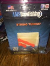 Ams Bowfishing String Things Finger Tabs Orange M171-Ships N 24 Hours