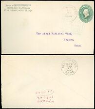 1891 Crete NEB, LINCOLN & CON SOUTH RPO, CRETE NURSERIES C/C, SC #U311 Variety!