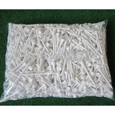 1000 white 70mm wooden golf tees, brand new sealed pack. GOOD QUALITY TEES