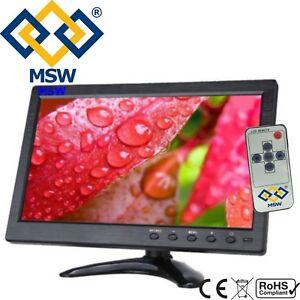 """MONITOR 10.1"""" POLLICI TFT LCD HDMI PER VIDEOSORVEGLIANZA VGA FULL HD BNC VGA"""