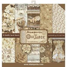 "Stamperia 12""x12"" Scrapbook Paper Pad ""Old Lace"" Vintage images Angels"