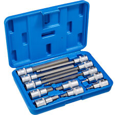 "12 Pc Internal Socket Set Allen Key Long/Short 1/2"" Inch Bits Tools Metric Case"