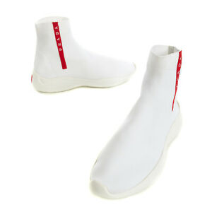 RRP €645 PRADA Knitted Sneakers EU 43 UK 9 US 10 Two Tone Sock Like Thick Sole