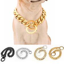 15mm  Large Dog Pet P Choke Chain Stainless Steel Training Dog Collars