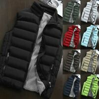 Mens Quilted Padded Bodywarmer Gilet Gillet Sleeveless Coat Jacket Puffer Down