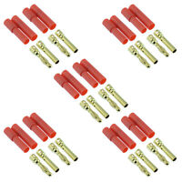 5 x PAIRS HXT 4mm Gold Bullet RC Lipo Battery Connector Car Plane Helicopter