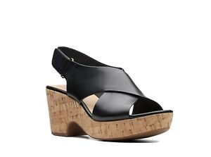 Clarks Sandals Maritsa Lara Black Size 7 D RRP £60 Wedge