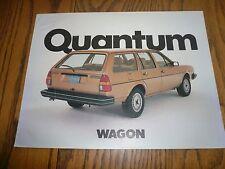 1983 Vw Quantum Wagon Sales Brochureflyer Vintage