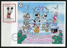 DISNEY GRENADA MICKEY'S DREAM WEDDING 1999 SHEET OF EIGHT  FIRST DAY COVER