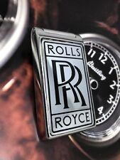 Rolls Royce Lock Badge Magnet Door Cover For Truck Key Entry, Metal Chrome Badge