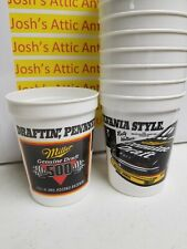 Rusty Wallace Cups (12) Nascar Pocono Raceway 1992 Miller Beer Vintage Penske
